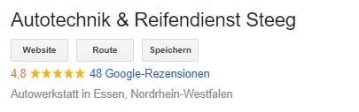 Google Kundenbewertungen Autotechnik Steeg in Essen