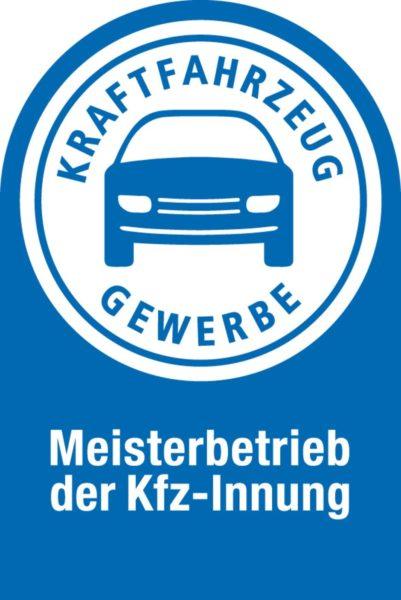 Schild Meisterbetrieb der Kfz-Innung