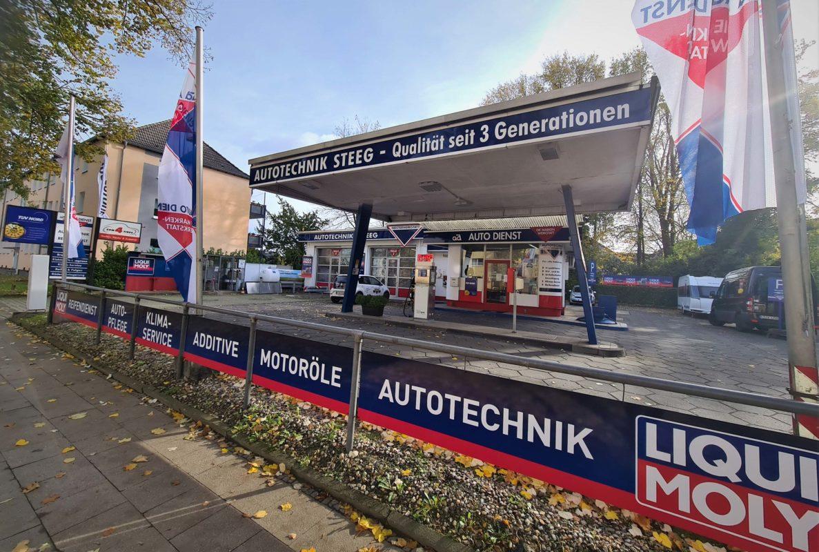 Bild zeigt Autowerkstatt Autotechnik Steeg Kfz Werkstatt Außenansicht